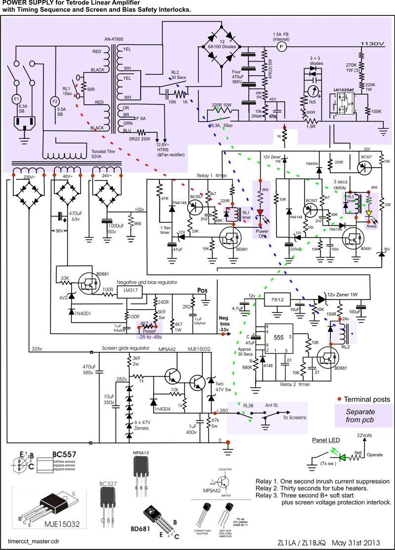 Linear Amplifier Circuit Power Opamp Cascade Diagram Tradeoficcom With Qqe Tubes 800x1113